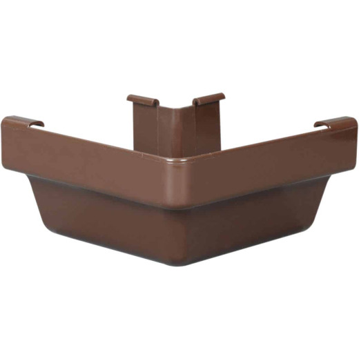 Amerimax 5 In. Traditional K-Style Brown Vinyl Gutter Outside Miter