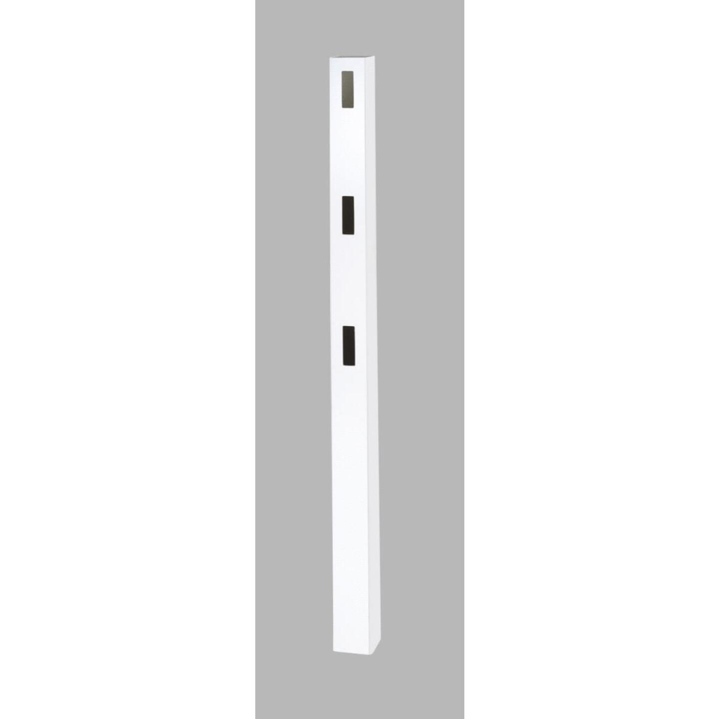 Outdoor Essentials 5 In. x 5 In. x 84 In. White End 3-Rail Fence Vinyl Post Image 1