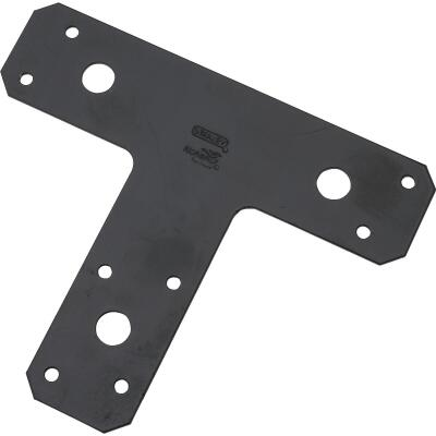 National Catalog 1161BC 6 In. x 5 In. Black Heavy Duty T-Plate