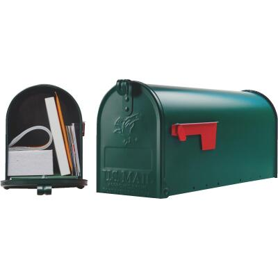 Gibraltar Elite T1 Green Steel Rural Post Mount Mailbox