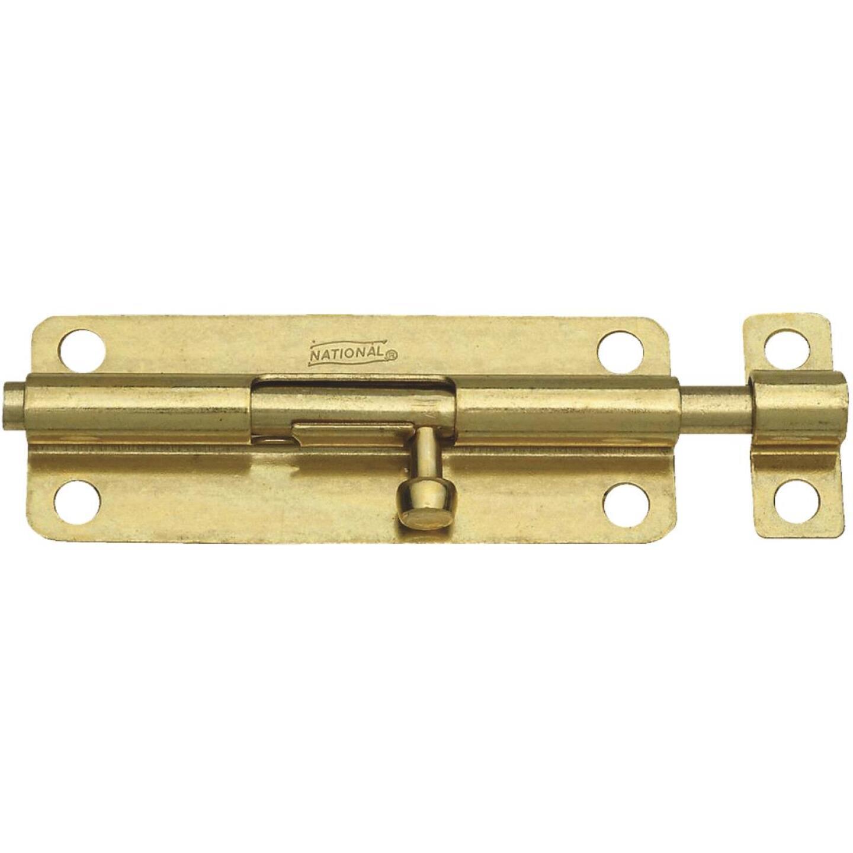 National 5 In. Brass Steel Door Barrel Bolt Image 1