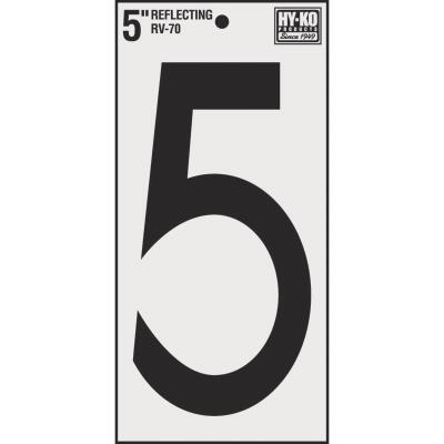 Hy-Ko Vinyl 5 In. Reflective Adhesive Number Five