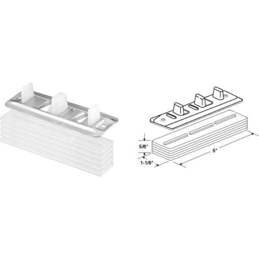 Prime-Line Bypass Door Guide & Carpet Risers