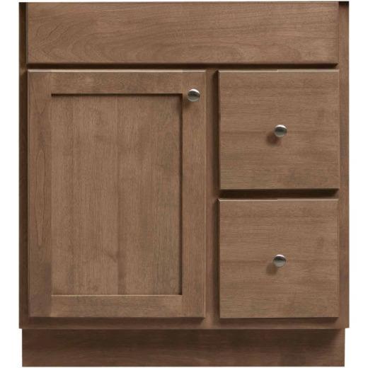 Bertch Bear Creek Driftwood 30 In. W x 34-1/2 In. H x 21 In. D Vanity Base, 1 Door/2 Drawer