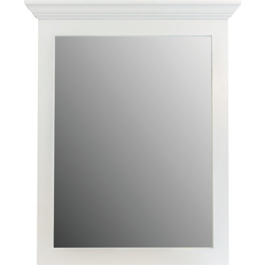 CraftMark Shaker Retreat White 30 In. W x 36 In. H Vanity Mirror