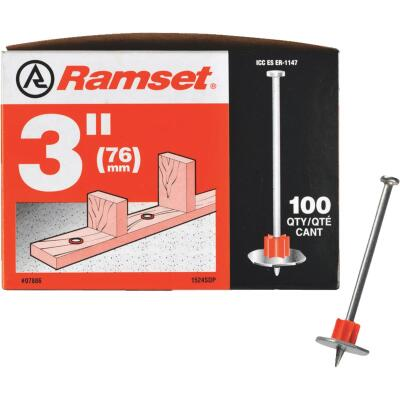Ramset 3 In. Fastening Pin with Washer (100-Pack)