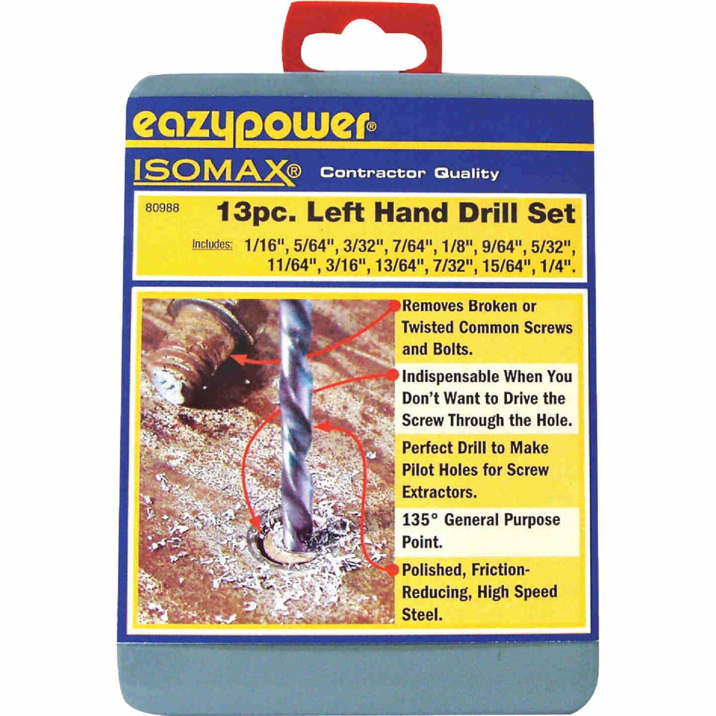 Eazypower Left Hand Drill Bit Set (13-Pieces) Image 1