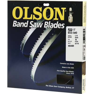 Olson 59-1/2 In. x 1/4 In. 6 TPI Hook Wood Cutting Band Saw Blade