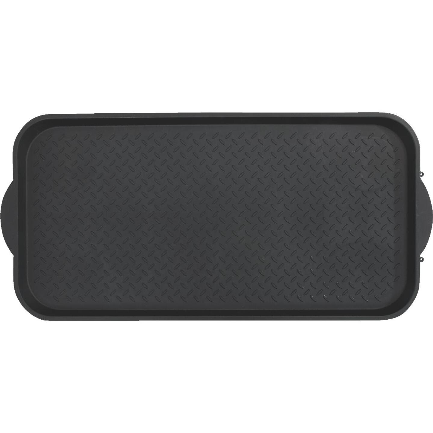 XL 18.9 In. x 39.3 In. Black Recycled Plastic Boot Tray Image 5