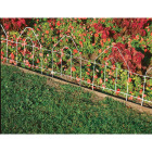 Best Garden 8 Ft. White Galvanized Wire Folding Fence Image 4
