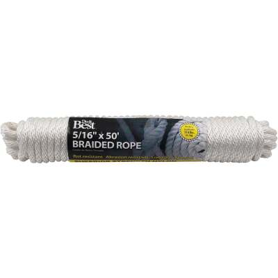 Do it 5/16 In. x 50 Ft. White Braided Nylon Packaged Rope