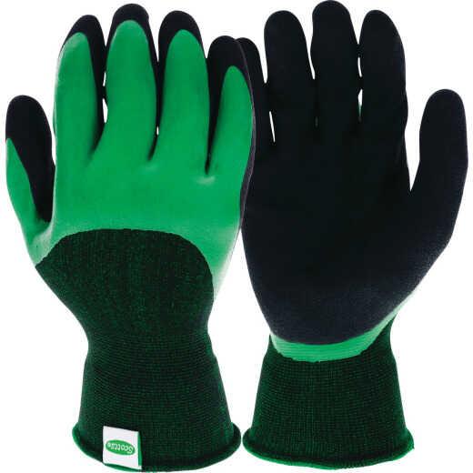 Scotts Large Latex Dipped Green & Black Gloves