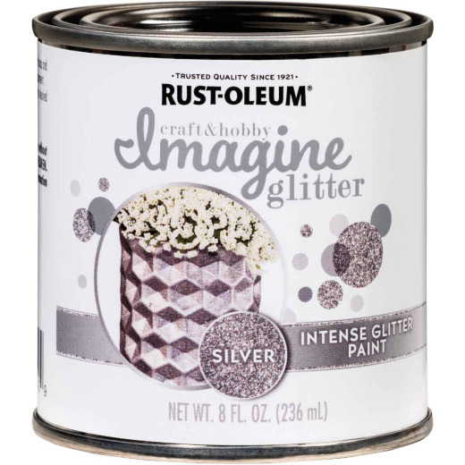 Rust-Oleum Imagine Craft & Hobby 8 Oz. Intense Silver Glitter Paint