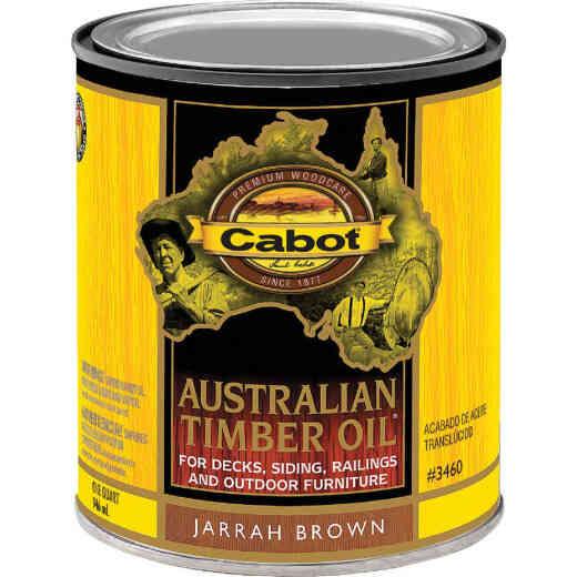 Cabot Australian Timber Oil Translucent Exterior Oil Finish, Jarrah Brown, 1 Qt.
