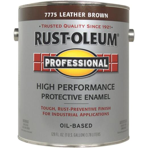 Rust-Oleum Professional Oil-Based Gloss VOC Formula Rust Control Enamel, Leather Brown, 1 Gal.